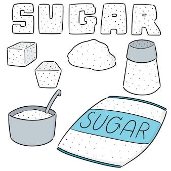 Vektorsatz zucker