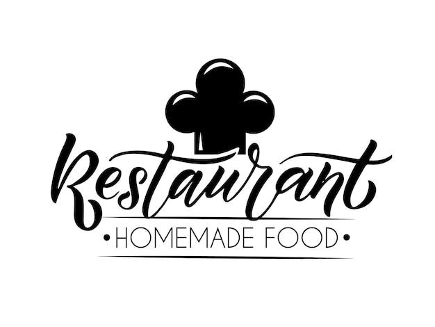 Vektorschablone des catering-bar-café-bistro-restaurant-logos handskizzierter logo-schriftzug typ