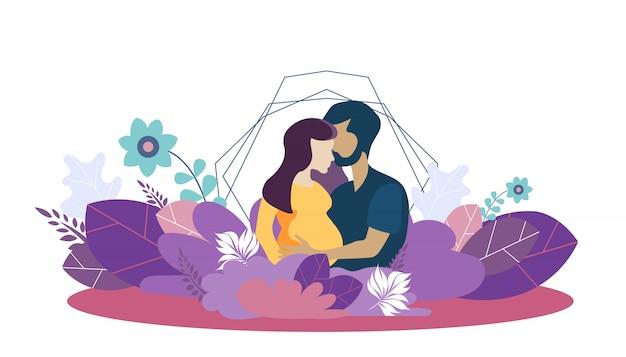 Vektorschablone für wachsende familie und liebe