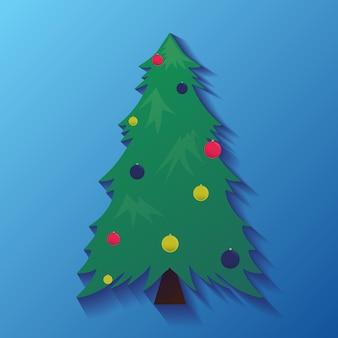 Vektorsymbole mit weihnachtsbaum mit dekorationen für ihre kreation
