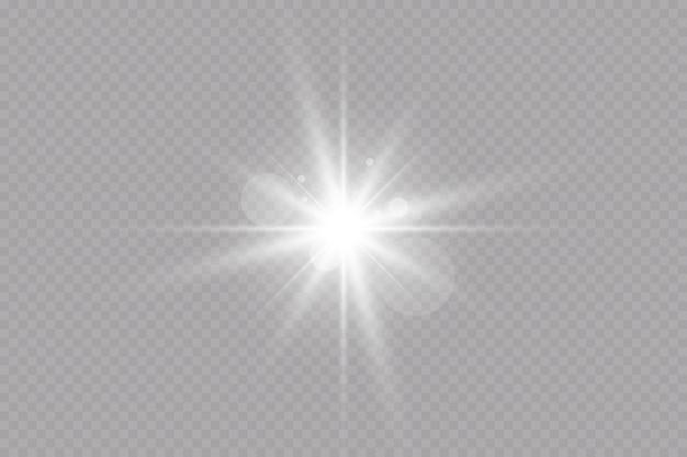 Vektortransparentes sonnenlicht spezieller lens flare lichteffekt