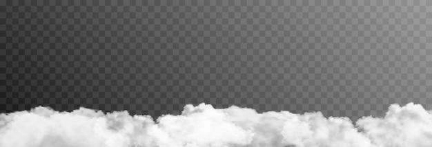 Vektorwolke oder rauch auf einem isolierten transparenten hintergrund wolkenrauchnebel png