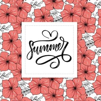 Vektorwortverkauf buchstaben gemacht von den blumen und von den blättern sommerschlussverkauf-feiertag