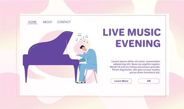 Vektorzeichenillustration der jazzband führen musik durch. musiker spielen instrument