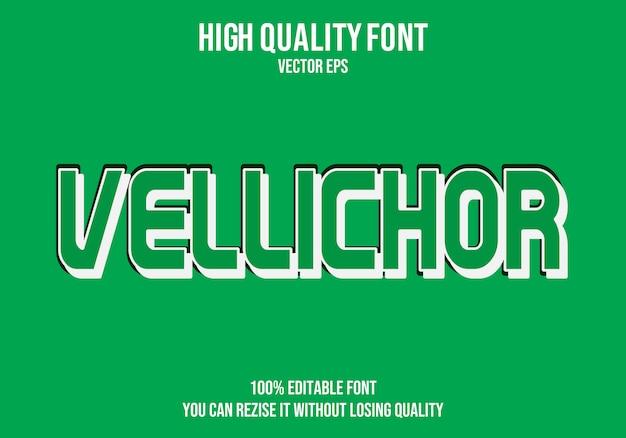 Vellichor editierbarer text effekt