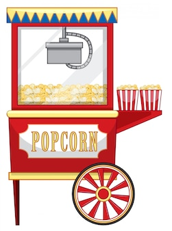 Vendor kirmes für popcorn
