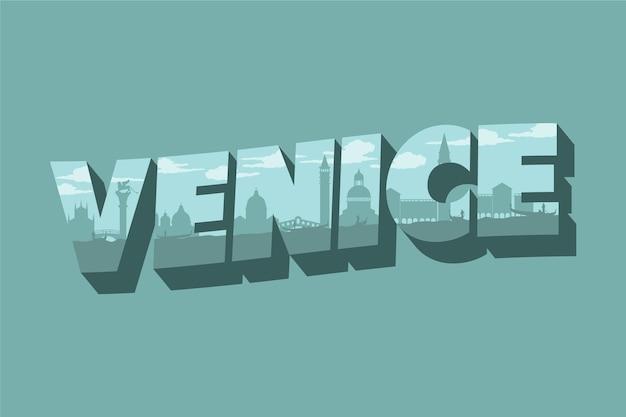 Venedig stadt schriftzug