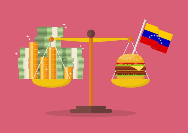 Venezuela hyperinflationskonzept