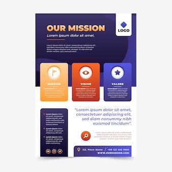 Verändern sie unsere missions-flyer-vorlage