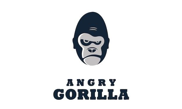 Verärgerte gorilla- / affeillustration