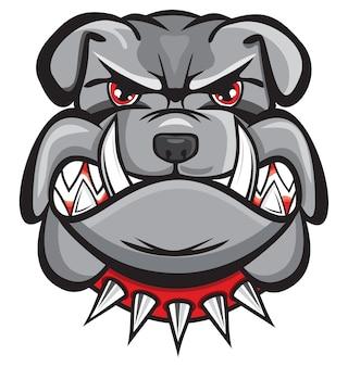 Verärgerter bulldoggenkopf