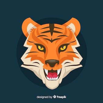 Verärgerter tigerhintergrund