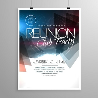 Veranstaltung club-party flyer vorlage broschüre design