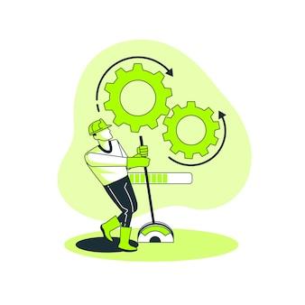 Verarbeitungskonzept illustration