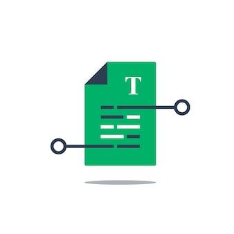 Verbesserung des texters oder illustration des kreativen schreibens