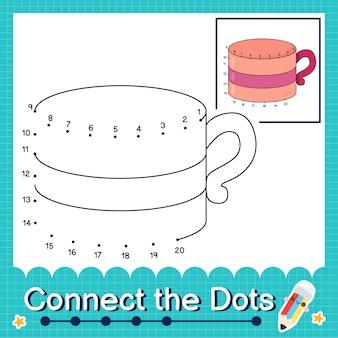 Verbinde die punkte, die die zahlen 1 bis 20 zählen, puzzle-arbeitsblatt mit ug