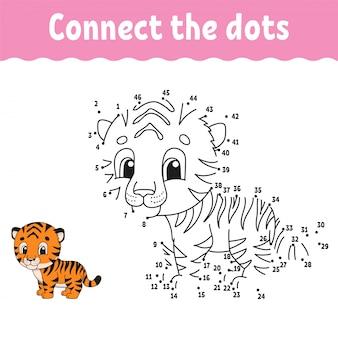 Verbinde die punkte und zeichne ein spiel für kinder