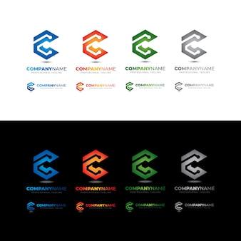 Verbinden sie das tech c letter box-logo