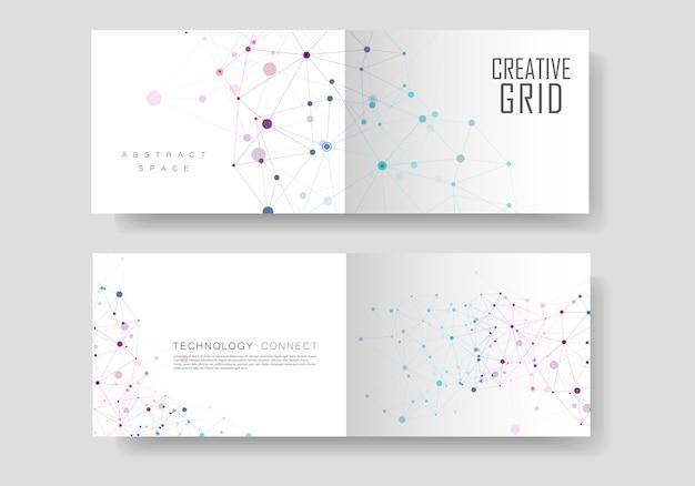 Verbinden sie linien und punkte cover-broschüre