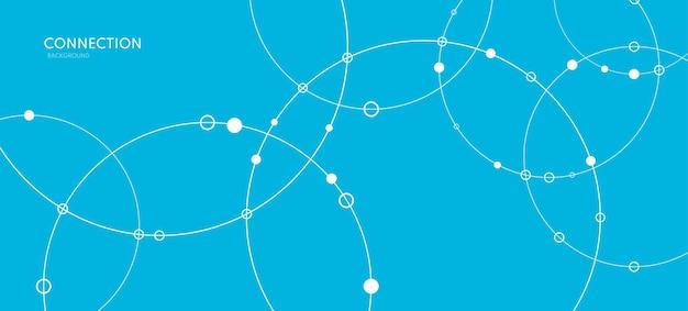 Verbindungshintergrund-netzwerkkonzept mit punkten und linienvektorillustration