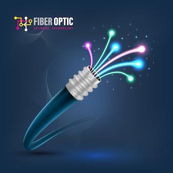 Verbindungskonzept des lichtwellenleiters
