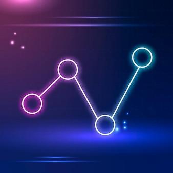 Verbindungssymbol in violettem ton