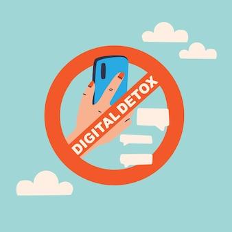 Verbot der nutzung eines mobiltelefons hand, die ein smartphone in einem durchgestrichenen kreis hält