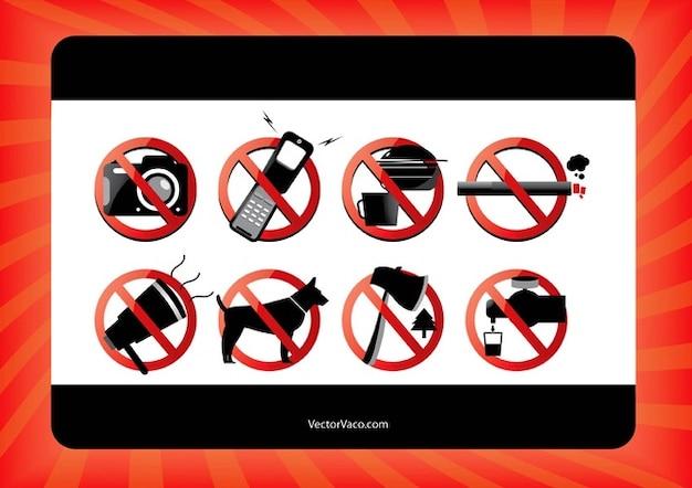 Verboten schilder