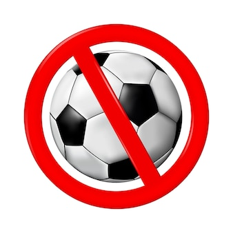 Verbotener fußball