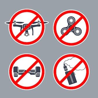 Verbotszeichen kein hoverboard innerhalb der runde. vektor-flache einfaches symbol