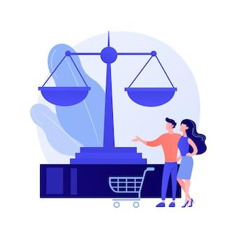 Verbraucherrecht abstraktes konzept