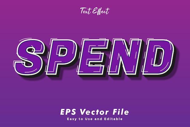 Verbringen sie den bearbeitbaren und benutzerfreundlichen typografieeffekt des texteffekts