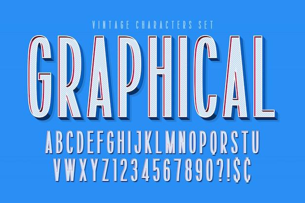 Verdichtete komische schriftart der anzeige 3d, alphabet