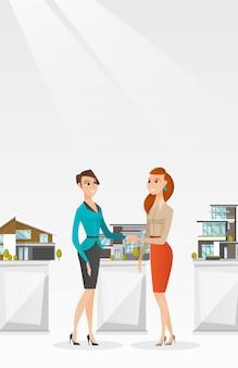 Vereinbarung zwischen immobilienmakler und käufer.