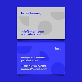 Vereinfachte visitenkartenvorlage