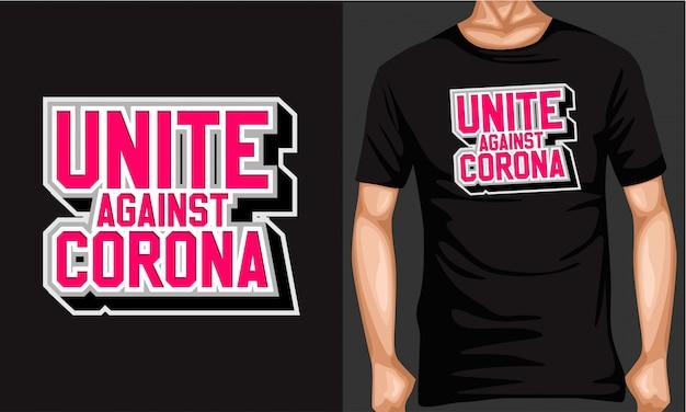 Vereinigt euch gegen corona-virus-schrifttyp