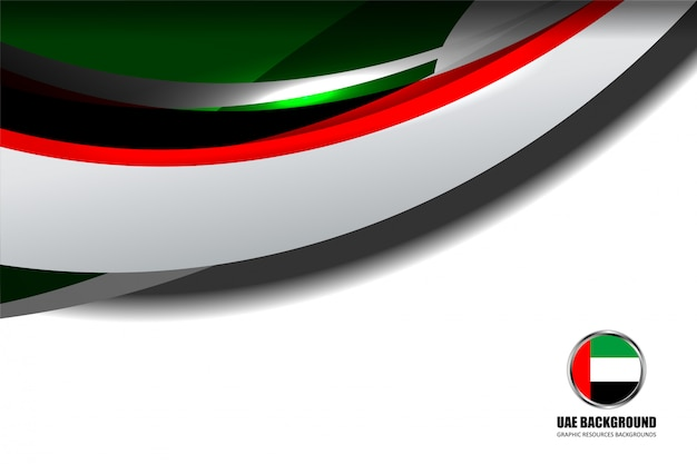 Vereinigte arabische emirate flagge konzept hintergrund
