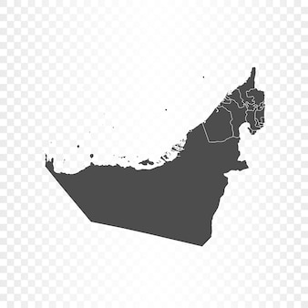Vereinigte arabische emirate karte isolierte wiedergabe