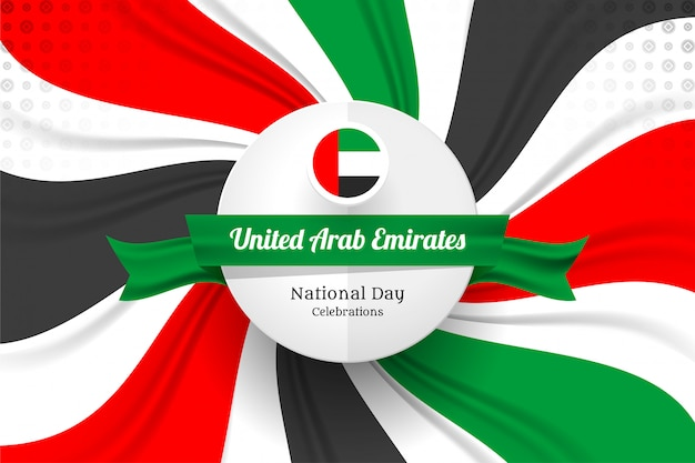 Vereinigte arabische emirate kennzeichnen konzepthintergrund