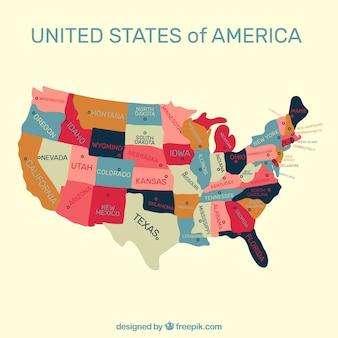 Vereinigte staaten von amerika karte hintergrund