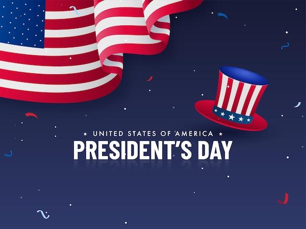 Vereinigte staaten von amerika, president's day concept