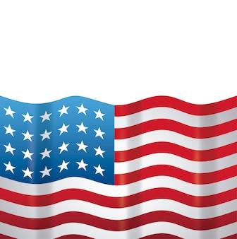 Vereinigter staat der amerikanischen flagge