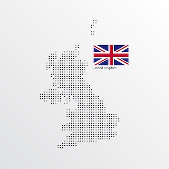 Vereinigtes königreich kartenentwurf