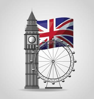 Vereinigtes königreich setzt flagge