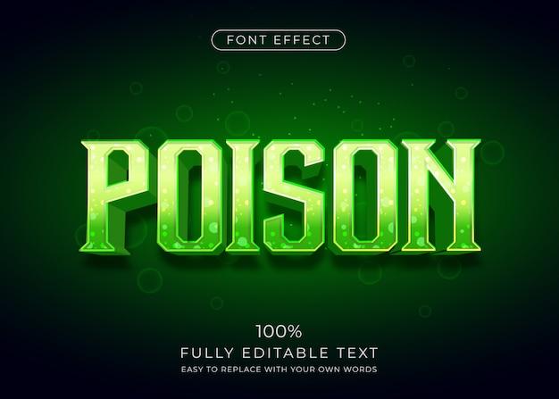 Vergiften sie den texteffekt mit lebendiger farbe. bearbeitbarer schriftstil