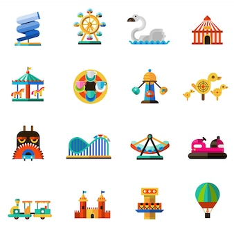 Vergnügungspark icons