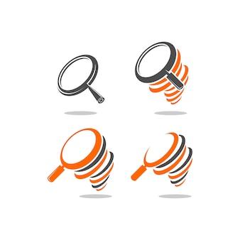 Vergrößern logo-set