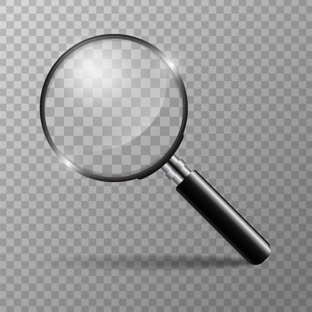 Vergrößerungsglaskonzept für das finden der leute, zum für die organisation zu arbeiten