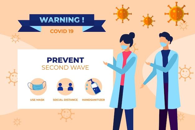 Verhindern sie das coronavirus-konzept der zweiten welle