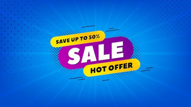 Verkauf 50 prozent aus hintergrund